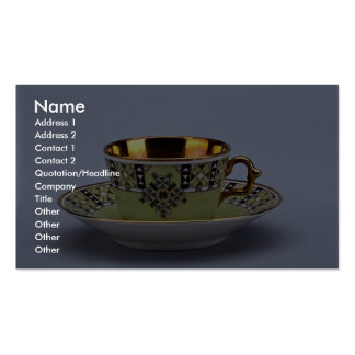 Attractive 20th century coffee cup and saucer pack of standard business cards