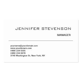 Attractive Black White Consultant Business Card