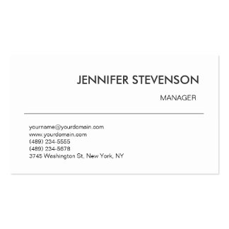 Attractive Black White Manager Business Card