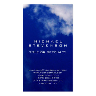 Attractive Blue Sky White Clouds Business Card