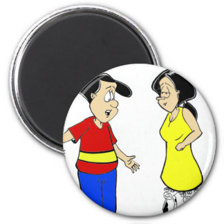 Attractive Calves? Funny Cartoon Tees & Gifts Refrigerator Magnets