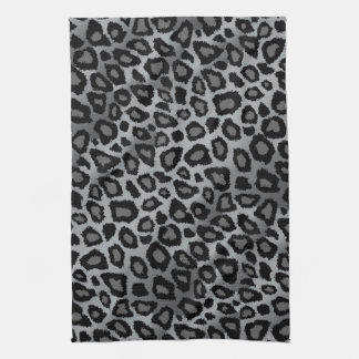 Attractive Gray Leopard Animal Print Tea Towel