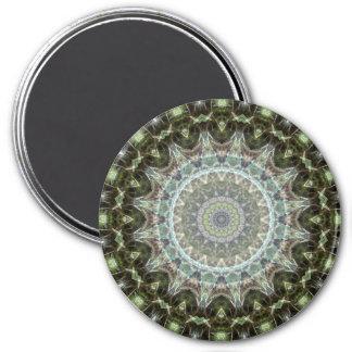 Attractive Green Leaf Mandala Art Magnet