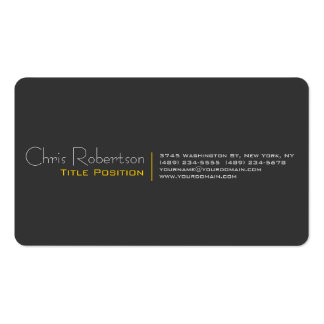 Attractive Grey Yellow Charming Business Card