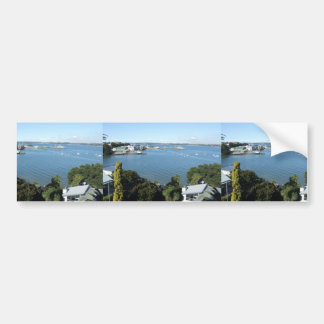 Attractive Harbour With Number Of Boats Bumper Sticker