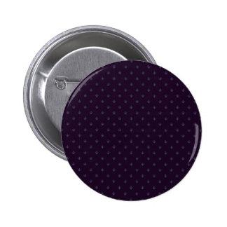 Attractive light purple damask pattern on purple s 6 cm round badge