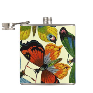 Attractive Nature Garden Bugs Butterfly Moth Flask
