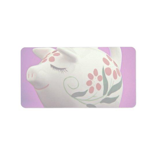Attractive Piggy bank Label