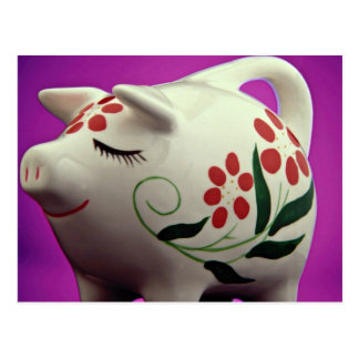 Attractive Piggy bank Postcard