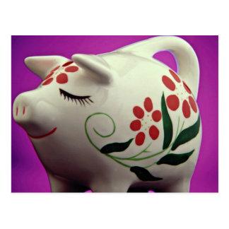 Attractive Piggy bank Postcards