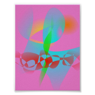 Attractive Pink Abstract Art Posters