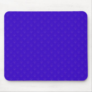 Attractive purple flowers with two leafs on rough mouse pad