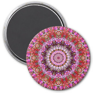 Attractive Red and Purple Floral Mandala Art 7.5 Cm Round Magnet