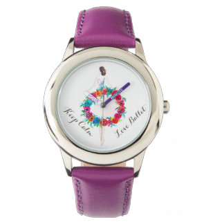 Attractive stainless steel watch for kids