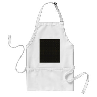 Attractive tiny light brown damask pattern on blac apron