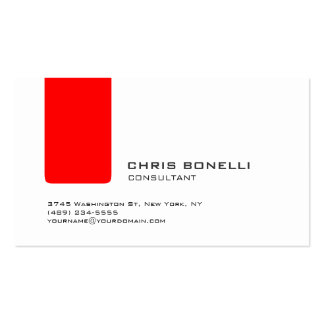 Attractive White Red Stripe Trendy Business Card
