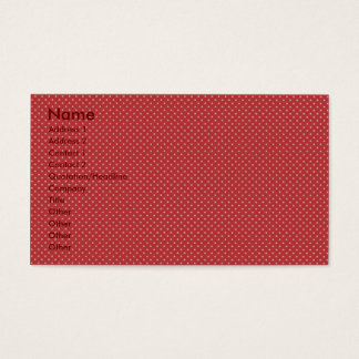 Attractive white stars on rough red surface business card