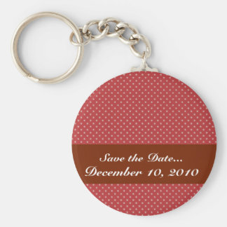 Attractive white stars on rough red surface key chains