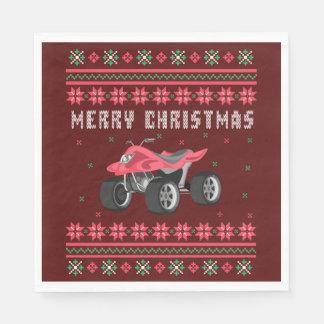 ATV 4 Wheeler Ugly Christmas Sweater Paper Napkin