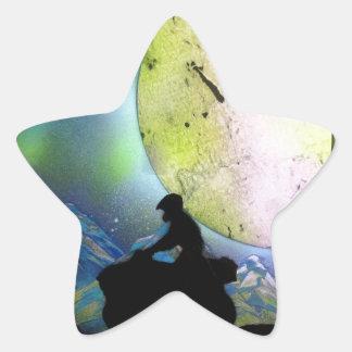 ATV Four Wheeler Space Landscape Spray Paint Art Star Sticker