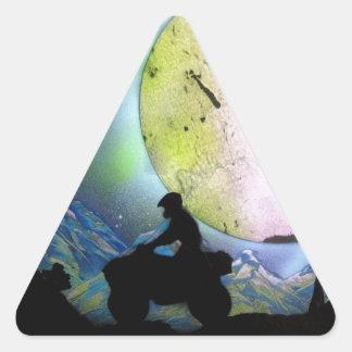ATV Four Wheeler Space Landscape Spray Paint Art Triangle Sticker