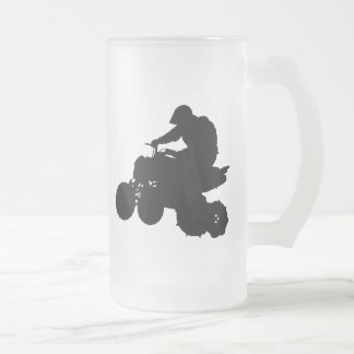 ATV FROSTED GLASS BEER MUG