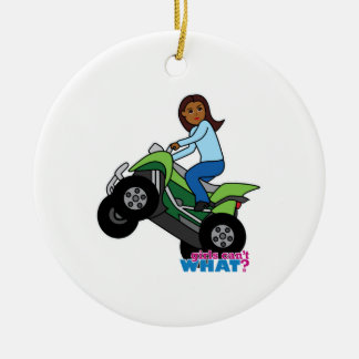 ATV Girl Ceramic Ornament
