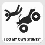 ATV My Own Stunts Square Sticker