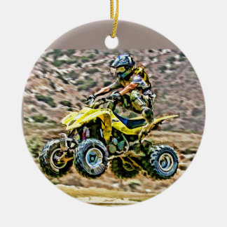 ATV Off Road Running Ceramic Ornament