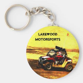 ATV Rider - All Terrain Extreme  Motorsports Basic Round Button Key Ring