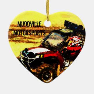ATV Rider - All Terrain Extreme  Motorsports Ceramic Heart Decoration