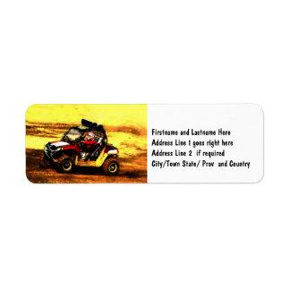 ATV Rider - All Terrain Extreme  Motorsports Return Address Label
