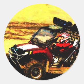 ATV Rider - All Terrain Extreme  Motorsports Round Sticker
