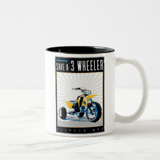 ATV - Save a 3 Wheeler Two-Tone Coffee Mug