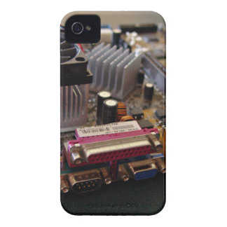 ATX motherboard view from connector edge iPhone 4 Covers