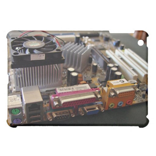 ATX motherboard view from connector edge iPad Mini Covers