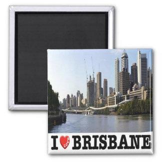 AU - Australia - Brisbane - I Love Square Magnet