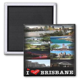 AU * Australia - Brisbane - Mosaic Square Magnet