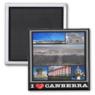 AU - Australia - Canberra - I Love Square Magnet