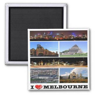 AU - Australia -  Melbourne - I Love Square Magnet