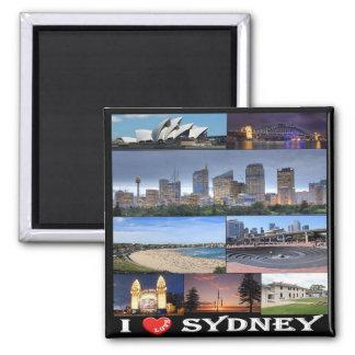 AU - Australia - Sydney - I Love Square Magnet