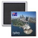 AU - Australia - Sydney - Panorama Square Magnet