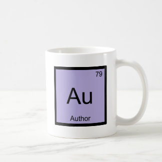 Au - Author Chemistry Element Symbol Book T-Shirt Coffee Mug