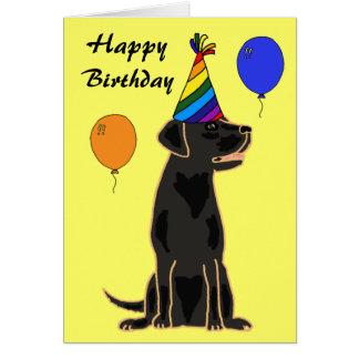 AU- Black Labrador Birthday Card
