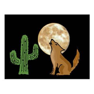 AU- Howling Coyote Postcard