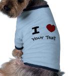 AU- I Heart Love Custom Design Dog T Shirt