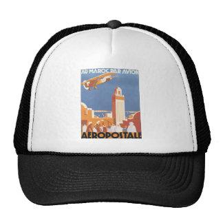 Au Maroc Par Avion Aeropostale, Vintage Trucker Hat