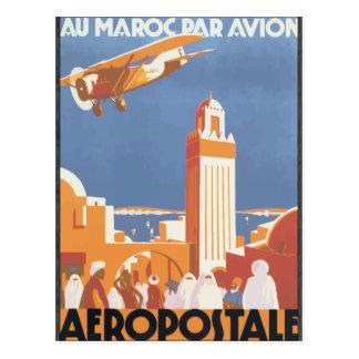 Au Maroc Par Avion Aeropostale, Vintage Postcards