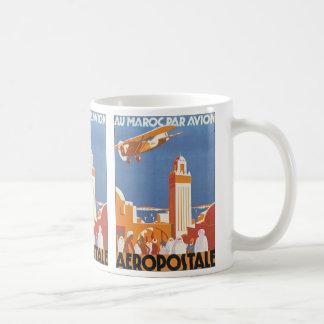 Au Maroc Par Avion Basic White Mug