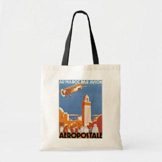 Au Maroc Par Avion Budget Tote Bag